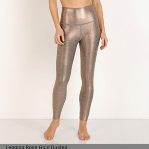 Beyond yoga rose gold dusted high waist leggings